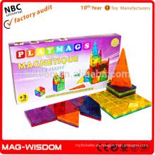 Playmags 2016 bloques magnéticos de azulejos de construcción no tóxicos juguetes educativos de plástico 20pcs Set