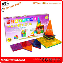 Playmags 2016 Magnetic Building Tile Blocks NON Toxic Plastic Educational Toys 20pcs Set