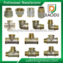 High Quality Nickel Plated Tee Brass Fitting Forged Male Female Elbow Pipe Fitting