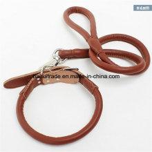 2016 hochwertige Leder Seil Leine und Halsband