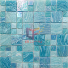 Lake Blue Iridescent Color Glass Swimming Pool Mosaic (CSJ120)