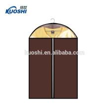 sac de vêtement en plastique de vente chaude avec des poches