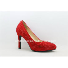 Sexy High Heels Red Leather Women Bridal Shoes