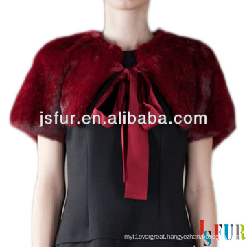 2013 new product lovely real rabbit fur winter fur shawl