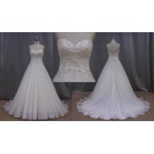 A linha de vestidos de noiva brancos feitos na China