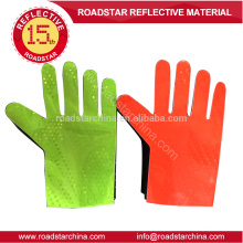 Red & yellow traffic reflective glove for police