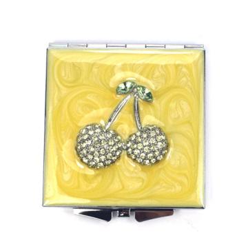 Espelhos compactos bling cereja