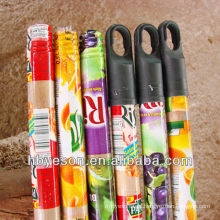 fruit pvc cover wood broom handle 2.2*120cm