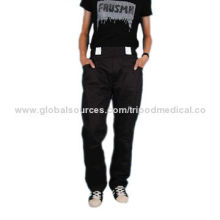 Cargo trousers, work pants, adjustable waist, reinforced crotch, strong belt loops