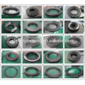4 point contact black coating turntable gear ring bearing used for swing equipment