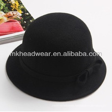 Ladies Fashion Wool Felt Bucket Bowler Hat for Sale