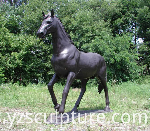 life size bronze horse statue