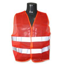 Gilet réfléchissant de sécurité de visibilité élevée de maille orange d'ANSI / Isea (YKY2826)