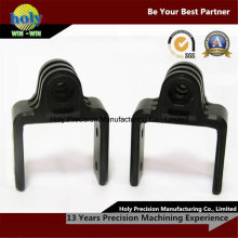 Black Delrin CNC que trabaja a máquina piezas de encargo del CNC de las piezas