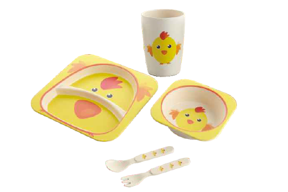 Bamboo Tableware Kids Dinner Set