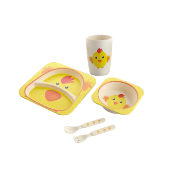 Eco Friendly Bamboo Fiber Children Servies