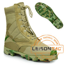 Bottes tactiques en nylon imperméable et en cuir de vachette / Anti-glissement et anti-abrasion / Haute performance