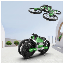 2 in1 HD aerial camera deformation motorcycle quadcopter kids Aircraft children radio control toys drone