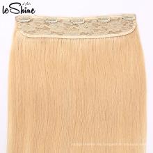 Clip de una sola pieza del donante del pelo humano de la Virgen del cabello humano 100% Remy en la extensión del pelo