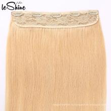 Человеческие Волосы 100% Remy Виргинские Волосы Одного Донора Один Кусок Клип В Наращивание Волос