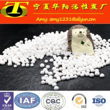 Bola blanca de óxido de aluminio activado para medios de molienda