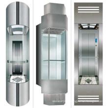 XIWEI 4.0 m / s Visão Completa Rápida Sightseeing Marketplace Vidro Comercial Panoramic Elevator