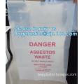 asbestos waste plastic uv black bag, Disposable Asbestos Bag, polythene poly plastic storage asbersto waste burial bags