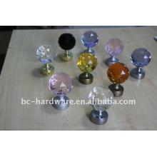 60mm Kristall Vorhang Finial, runde Kristall Vorhang Stange Finial