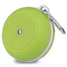 Round Plastic Top-Class Wireless Phone Bluetooth Speaker with Carabiner (EA12009)