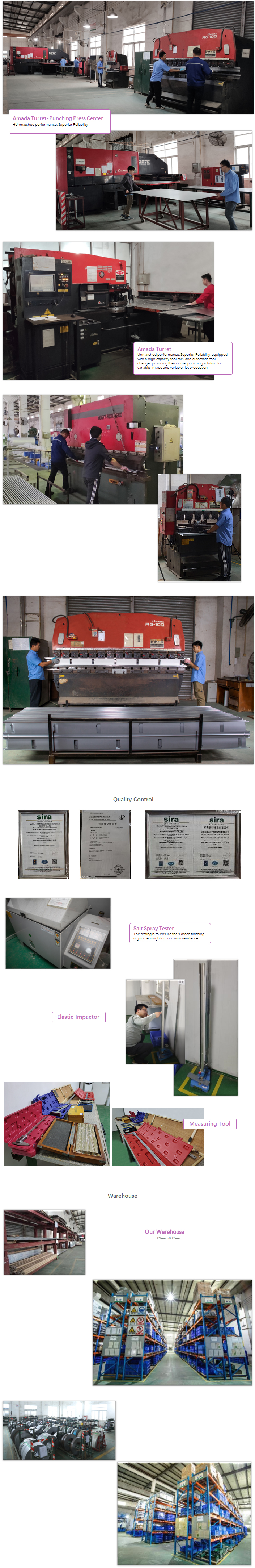 Telecom system in sheet metal housing
