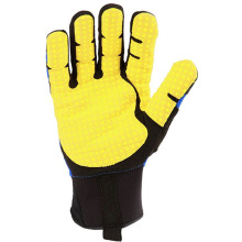 Pekerja silikon Palm Padding Firm Worker Anti-getaran Gloves