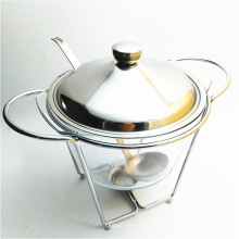 Réchauffeur de nourriture chaud de plateau de soupe de plateau de fer de la vente 4Liter pour la restauration