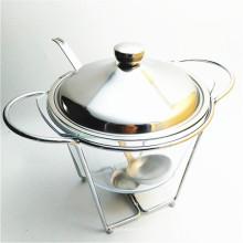 Venda quente Ferro Prateleira 4Liter Soup Bowl Food Warmer para Catering