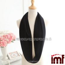 Теплый черный 100% кашемир бесконечности петли шарф