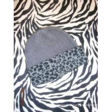 Кашемир вязанные шапки с Leopard печати