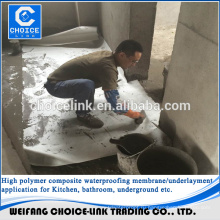 ПЭ композитная водонепроницаемая мембрана для ванной комнаты