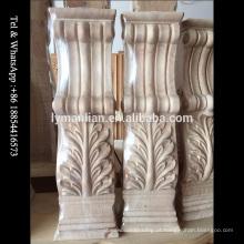 Poste de madeira maciça de madeira esculpida
