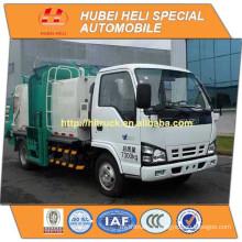 Technologie JAPAN 4x2 6CBM autochargeuse chariot à ordures côté moteur diesel 4KH1-TCG40 120hp