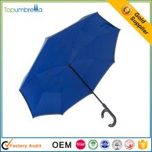 venta caliente Paraguas a prueba de viento invertido de doble capa conveniente a prueba de viento