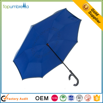 горячая распродажа Ветрозащитный удобный двойной слой перевернутый обратный зонт
