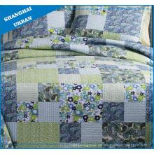 Frühlingszeit Blumendruck Polyester Patchwork Quilt