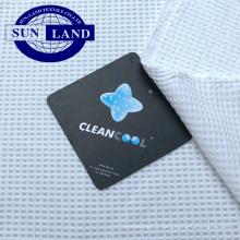 Textile à la maison taie d'oreiller vêtements cleancool anti bactérien ion ionique à séchage rapide, poids léger, polyester, tissu à mailles gaufrées