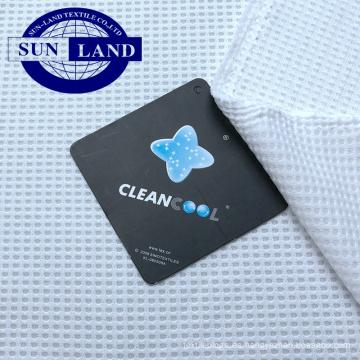 Textiles para el hogar funda de almohada ropa cleancool anti bacteriana ion de secado rápido peso ligero tejido de malla de gofres de poliéster