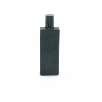 custom design screen printing 50ml empty glass matte black perfume bottle