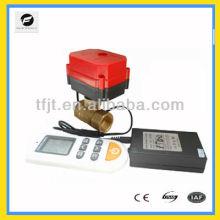Válvula accionada inalámbrica remota eléctrica a través de la temperatura para controlar el sistema de eliminación de agua
