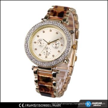 Japan quartz luxury men diamond watch bezel