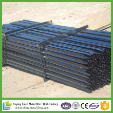 2,04kg Schwarzes Pinted Steel Star Picket