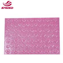 Customized print beautiful  pink scrapbook handcraft diy foamie various color heart print glitter foam sheets
