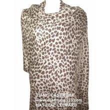 Cashmere Natural Leopard Shawl