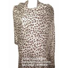 Kaschmir Natur Leopard Schal
